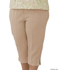 Silvert's 233400404 Womens Adaptive Capri Pants , Size X-Large, CAMEL