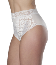 Wearever L109-WHITE-MED Women's Lace Incontinence Panties