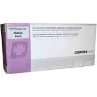 DISPOSAMED LATEX LIGHTLY Powdered Gloves Non-Sterile Medium 100/bx (AM011225)
