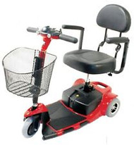 Zipr Roo 3 Wheels Mobility Scooter - Red - Free Shipping
