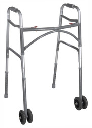 Drive 10220-1WW Bariatric Aluminum Folding Walker, Two Button