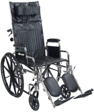 "Drive Medical CS20RBDDA Chrome Sport 20"" FULL-RECLINING WHEELCHAIR"