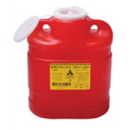 BD 300459 SHARPS Collector CHEMOTHERAPY 6.6L (5.7qt) Plug cap 12/case