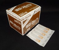 """BD 305110 PRECISIONGLIDE Needle STERILE CONVENTIONAL Tan Regular Wall Intradermal 26G x 10mm (0.375"""") 100/bx"""