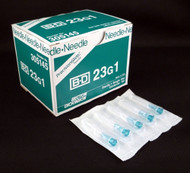 "BD 305145 PRECISIONGLIDE Needle STERILE CONVENTIONAL Turquoise Regular Wall 23G x 25mm (1"") 100/bx (Case of 10)"