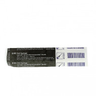 """BD 309574 LUER-LOK 3cc Syringe with Needle ATTACHED CONVENTIONAL Black 22 G x 33mm (1.5"""") 100/box"""