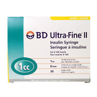 BD 320469 Ultra-Fine II insulin syringe 30 G x 8 mm 1cc 100/box (320469)