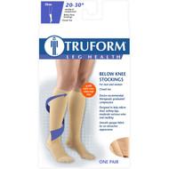 TRUFORM 8864BG Compression 20-30 mmHg Knee high, Closed-toe, Stay-up Beaded top, beige S-M-L-XL (8864BG)