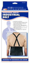 Champion C-205 Industrial Belt w/Attachable Suspenders - Black or White S-M-L-XL-2XL (C-205)