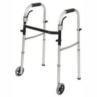 PCP 5068-W FOLDING WALKERS Travel folding w/wheels/skis/carry-on bag ADULT (5068-W)