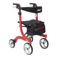 Nitro Euro Style Walker Rollator, Red (RTL10266)
