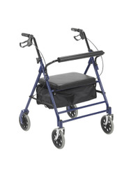 """Drive 10252BL Bariatric Rollator with 7.5"""" Wheels, Blue (10252BL)"""