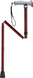 Adjustable Lightweight Folding Cane with Gel Hand Grip, Red Crackle (RTL10370RC)