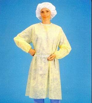 8010 Isolation Gown XL Yellow w/elastic cuff 5/CS