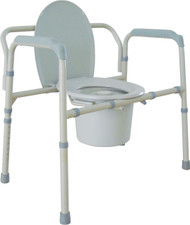 Drive Medical 11117N-1 Heavy Duty Bariatric Folding Bedside Commode Seat