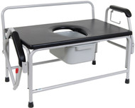 Drive 11132 Bariatric Extra Wide Drop Arm Bedside Commode Seat (11132-1)