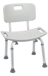 Bathroom Safety Shower Tub Bench Chair with Back, Gray (RTL12202KDR)