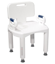 Drive RTL12505 Bath Bench with Back and Arms