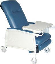 Drive Medical D574EW-BR 3 Position Heavy Duty Bariatric Geri Chair Recliner, Blue Ridge