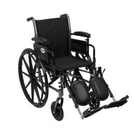 "Drive K316ADDA-ELR Cruiser III Light Weight Wheelchair with Flip Back Removable Arms, Adjustable Height Desk Arms, Elevating Leg Rests, 16"" (K316ADDA-ELR)"