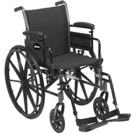 "Drive K318DFA-SF Cruiser III Light Weight Wheelchair with Flip Back Removable Arms, Full Arms, Swing away Footrests, 18"" Seat (K318DFA-SF)"