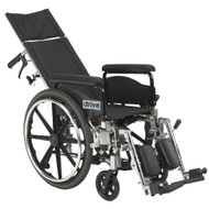 "Drive PLA418RBDFA Viper Plus GT Full Reclining Wheelchair, Detachable Full Arms, 18"" Seat (PLA418RBDFA)"
