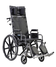 "Drive STD14RBDDA Sentra Reclining Wheelchair, Detachable Desk Arms, 14"" Seat"