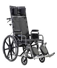 "Drive STD16RBDDA Sentra Reclining Wheelchair, Detachable Desk Arms, 16"" Seat (STD16RBDDA)"