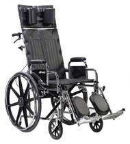 "Drive STD20RBADDA Sentra Reclining Wheelchair, Detachable Adjustable Height Desk Arms, 20"" Seat (STD20RBADDA)"