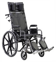 "Drive STD20RBDFA Sentra Reclining Wheelchair, Detachable Full Arms, 20"" Seat (STD20RBDFA)"