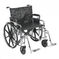 "Drive STD24ADDA-SF Sentra Extra Heavy Duty Wheelchair, Detachable Adjustable Height Desk Arms, Swing away Footrests, 24"" Seat (STD24ADDA-SF)"