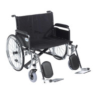 "Drive STD26ECDFA Sentra EC Bariatric Heavy Duty Extra Wide Wheelchair, Detachable Full Arms, 26"" Seat (STD26ECDFA)"