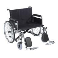 "Drive STD26ECDFA-ELR Sentra EC Heavy Duty Extra Wide Wheelchair, Detachable Full Arms, Elevating Leg Rests, 26"" Seat"
