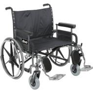 "Drive STD28DDA Sentra Extra Wide Heavy Duty Wheelchair, Detachable Desk Arms, 28"" Seat (Discontinued)"