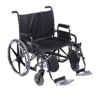 """Drive STD28DDA-SF Deluxe Sentra Heavy Duty Extra Extra Wide Wheelchair with Detachable Desk Arm Swing Away Footrests, 28"""" Seat"""