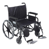 """Drive STD30DFA-ELR Deluxe Sentra Heavy Duty Extra Wide Wheelchair, Detachable Full Arm,Elevating Leg Rests, 30"""" Seat"""