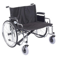 """Drive STD30ECDDA-SF Sentra EC Heavy Duty Extra Wide Wheelchair, Detachable Desk Arms, Swing away Footrests, 30"""" Seat (STD30ECDDA-SF)"""