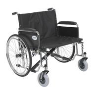 "Drive Medical STD30ECDFA Sentra EC Heavy Duty Extra Wide Wheelchair, Detachable Full Arms, 30"" Seat"