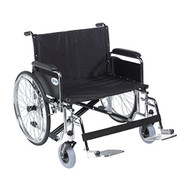 "Drive Medical STD30ECDFA-SF Sentra EC Heavy Duty Extra Wide Wheelchair, Detachable Full Arms, Swing away Footrests, 30"" Seat"