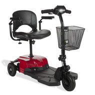 Bobcat X3 Compact Transportable Power Mobility Scooter, 3 Wheel, Red (BOBCATX3)
