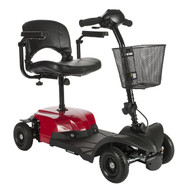 Drive Bobcat X4 Compact Transportable Power Mobility Scooter, 4 Wheel, Red (BOBCATX4)