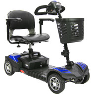Drive Medical SFSCOUTDLX4 Spitfire Scout DLX Compact Travel Scooter, 4 Wheel