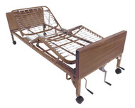 Drive 15003BV-PKG-1 Multi Height Manual Hospital Bed with Half Rails and Innerspring Mattress (15003BV-PKG-1)