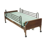 Drive 15030BV-PKG-TDelta Ultra Light Semi Electric Bed with Full Rails and Therapeutic Support Mattress (15030BV-PKG-T)