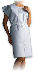 "STEVENS SC-731 Disposable EXAMINATION GOWN Blue 30 x 42"" T/P/T APEX CA/50"