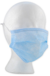 FACE MASK PROCEDURE w/EARLOOPS ALPHA AIR Blue BX/50 (BL-5005)