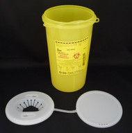 BD 300450 SHARPS Collector Funnel cap 3.0L Yellow with vertical entry