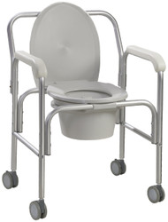 Drive 11112-2 Aluminum Commode with Wheels