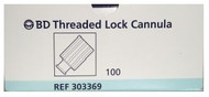 BD 303369 CANNULA THREADED LOCK INTERLINK BX/100