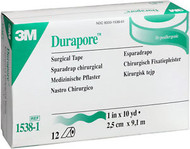 "3M-1538-1 Durapore Hypoallergenic Surgical Tape 1"" X 10 YD BX/12 (3M-1538-1)"